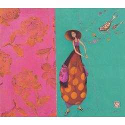 Carte Gaëlle Boissonnard 2019 - Pêche à la ligne - 14x16 cm. Réf: 15750