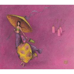 Carte Gaëlle Boissonnard 2019 - L'ombrelle - 14x16 cm. Réf: 15751