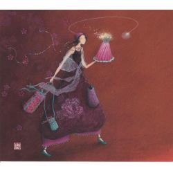 Carte Gaëlle Boissonnard 2019 - Le gâteau d'anniversaire - 14x16 cm. Réf: 15752