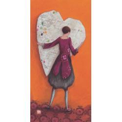 Carte Gaëlle Boissonnard 2019 - Coeur enlacé - 10.5x21 cm