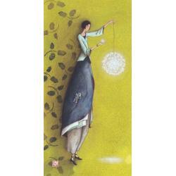 Carte Gaëlle Boissonnard 2019 - Le pendule lumineux - 10.5x21 cm. Réf: 15755