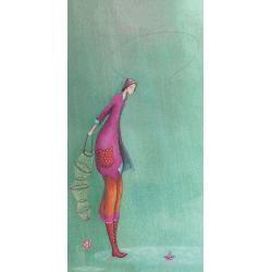 Carte Gaëlle Boissonnard 2019 - A la pêche - 10.5x21 cm. Réf: 15757