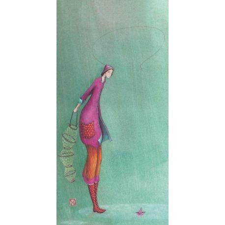 Carte Gaëlle Boissonnard 2019 - A la pêche - 10.5x21 cm