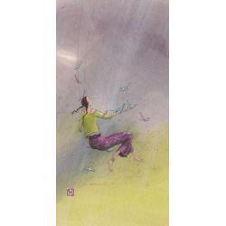 Carte Gaëlle Boissonnard 2019 - La balançoire - 10.5x21 cm. Réf: 15759