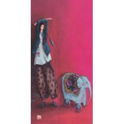 Carte Gaëlle Boissonnard 2019 - La promeneuse - 10.5x21 cm. Réf: 15761