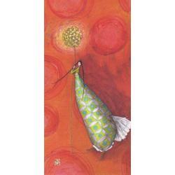 Carte Gaëlle Boissonnard 2019 - La boule aux papillons verts - 10.5x21 cm. Réf: 15846