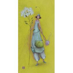 Carte Gaëlle Boissonnard 2019 - Promenade ombélifère - 10.5x21 cm. Réf: 15847