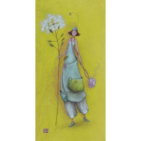 Carte Gaëlle Boissonnard 2019 - Promenade ombélifère - 10.5x21 cm