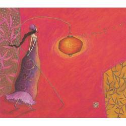 Carte Gaëlle Boissonnard 2019 - La lanterne rouge aux papillons - 14x16 cm. Réf: 15848