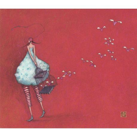 Carte Gaëlle Boissonnard 2019 - L'envolée de coeurs - 14x16 cm