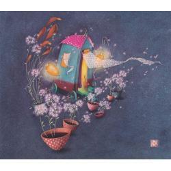 Carte Gaëlle Boissonnard 2019 - La cabane au fond du jardin - 14x16 cm. Réf: 15850