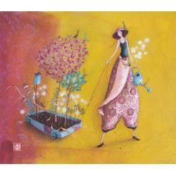 Carte Gaëlle Boissonnard 2019 - Le jardin ambulant - 14x16 cm. Réf: 15851
