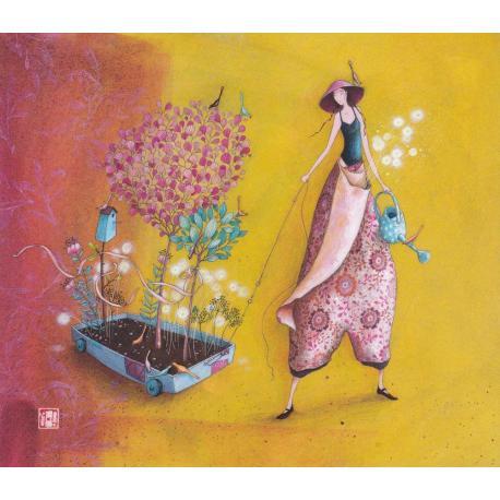 Carte Gaëlle Boissonnard 2019 - Le jardin ambulant - 14x16 cm