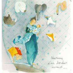 Carte Anne-Sophie Rutsaert - Naissance d'un bonheur immense... - 14x14 cm
