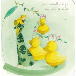 """Carte Anne-Sophie Rutsaert - Dans """"émerveiller"""" il y a ... aime, mère et veiller - 14x14 cm"""