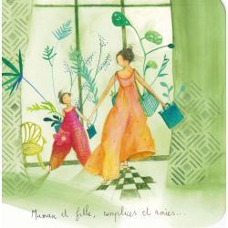 Carte Anne-Sophie Rutsaert - Dans Maman et fille, complices et amies... - 14x14 cm
