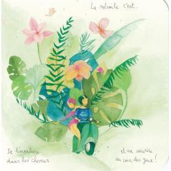 Carte Anne-Sophie Rutsaert - La retraite c'est... De l'aventure dans les cheveux et un sourire... - 14x14 cm