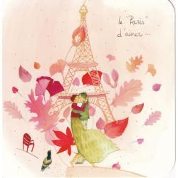 """Carte Anne-Sophie Rutsaert - Le """"Paris"""" d'aimer... - 14x14 cm"""