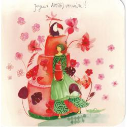 Carte Anne-Sophie Rutsaert - Joyeux AMI(E)versaire... - 14x14 cm