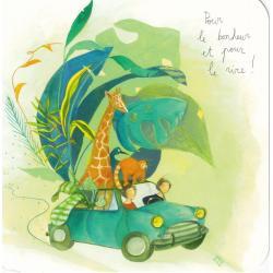 Carte Anne-Sophie Rutsaert - Pour le bonheur et pour le rire ! - 14x14 cm