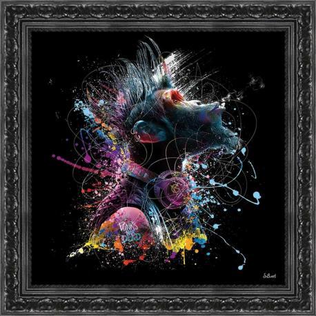 Tableau de Sylvain Binet - Cool monkey - 40x40 cm