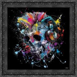 Tableau de Sylvain Binet - Skull - 40x40 cm