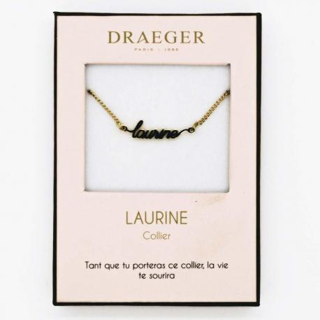 collier prenom laurine