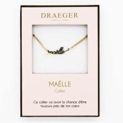 Collier prénom personnalisé MAELLE - 42 cm env réglable