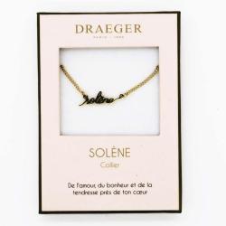 Collier prénom personnalisé SOLENE - 42 cm env réglable