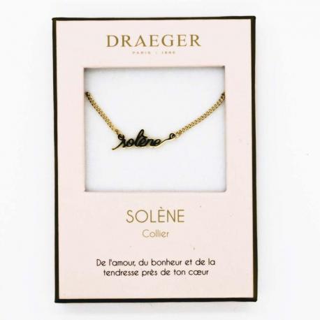 Collier pendentif prénom SOLENE - 42 cm env réglable