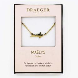 Collier prénom personnalisé MAELYS - 42 cm env réglable