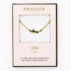 Collier pendentif prénom LENA - 42 cm env réglable
