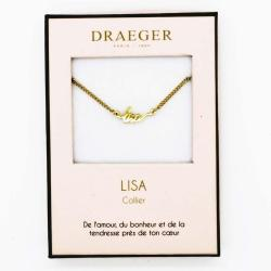 Collier pendentif prénom LISA - 42 cm env réglable