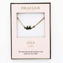 Collier pendentif prénom LOLA - 42 cm env réglable
