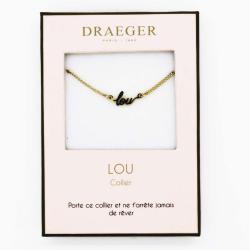 Collier pendentif prénom LOU - 42 cm env réglable
