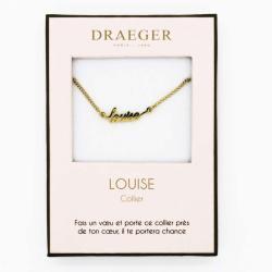 Collier pendentif prénom LOUISE - 42 cm env réglable