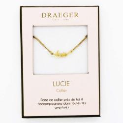 Collier prénom personnalisé LUCIE - 42 cm env réglable