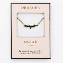 Collier prénom personnalisé MARGOT - 42 cm env réglable