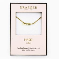 Collier prénom personnalisé MARIE - 42 cm env réglable