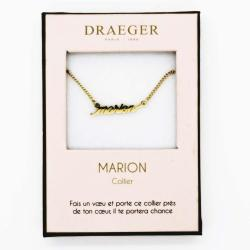 Collier prénom personnalisé MARION - 42 cm env réglable