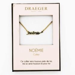 Collier prénom personnalisé NOEMIE - 42 cm env réglable