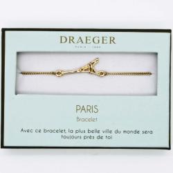 Bracelet motif TOUR EIFFEL - 14 cm environ réglable