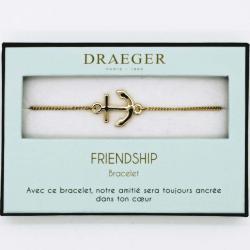 Bracelet motif ANCRE - 14 cm environ réglable