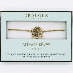 Bracelet motif ATTRAPE REVE - 14 cm environ réglable