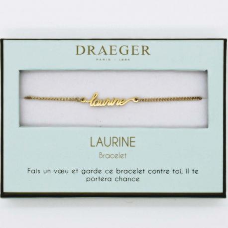 Bracelet prénom LAURINE - 14 cm environ réglable