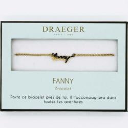 Bracelet prénom personnalisé FANNY - 14 cm environ réglable