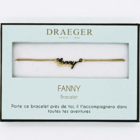 Bracelet prénom FANNY - 14 cm environ réglable