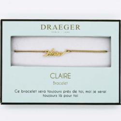 Bracelet prénom personnalisé CLAIRE - 14 cm environ réglable