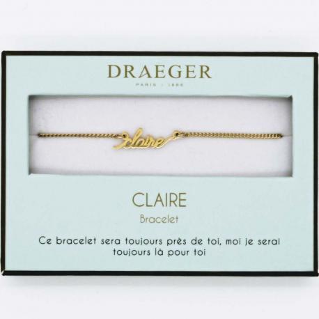 Bracelet prénom CLAIRE - 14 cm environ réglable