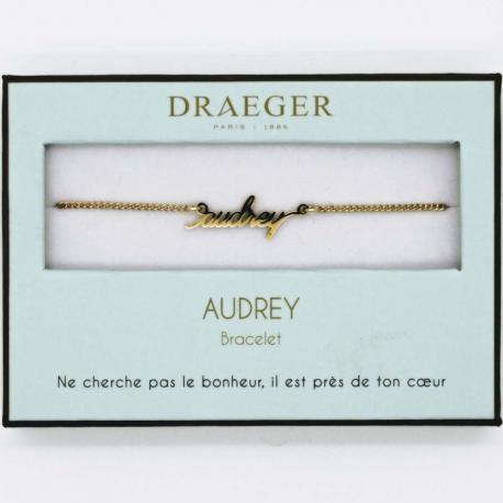 Bracelet prénom AUDREY - 14 cm environ réglable